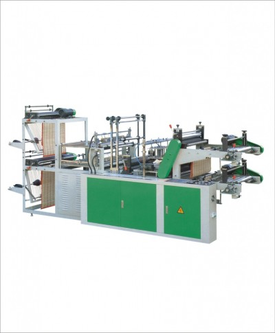 SHXJ-A500-800 Computer control high speed vest and flat rolling bag making machine