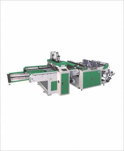 MD-DFR450X2C Full automatic high speed T-shirt bag making machine